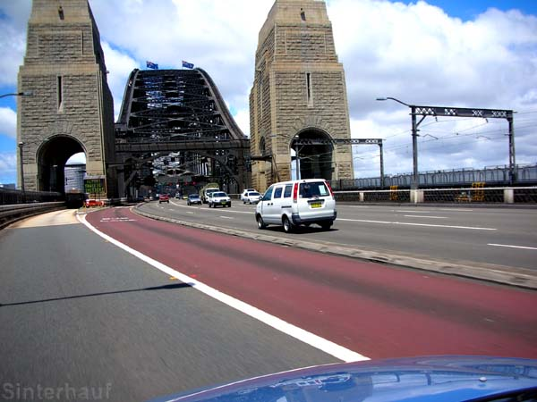 Auf der Harbour Bridge