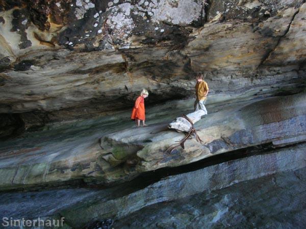 Begeisterte Höhlenforscher