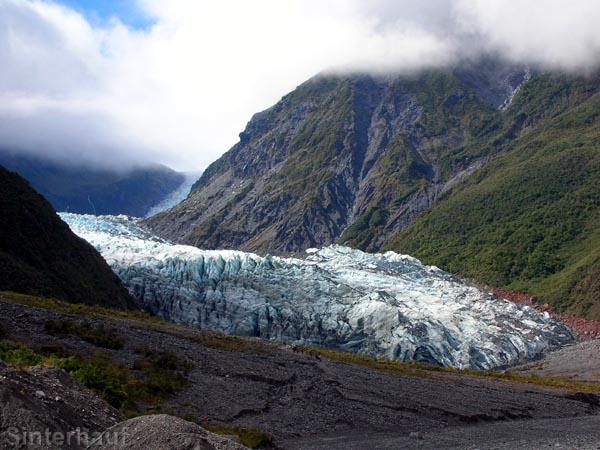 Kurze Lichtblicke am Franz Josef Gletscher