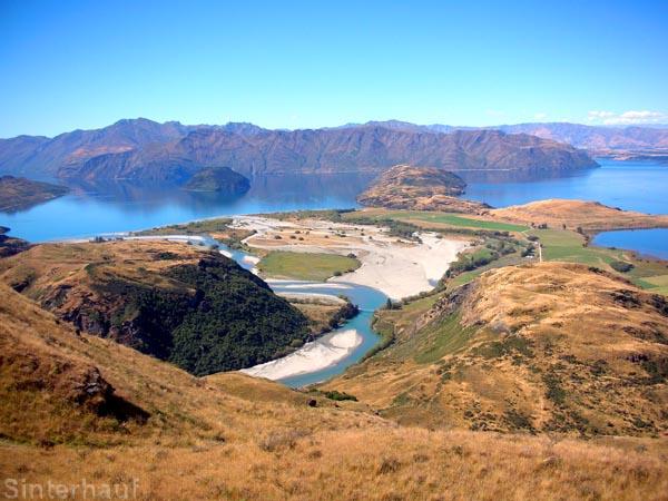Der See Wanaka und Umgebung