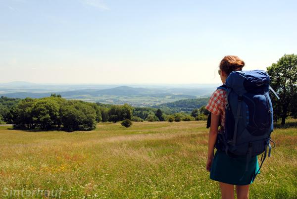 Ausblick von der Thüringer Hütte aus