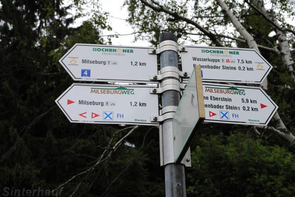 Wegweiser zur Milseburg