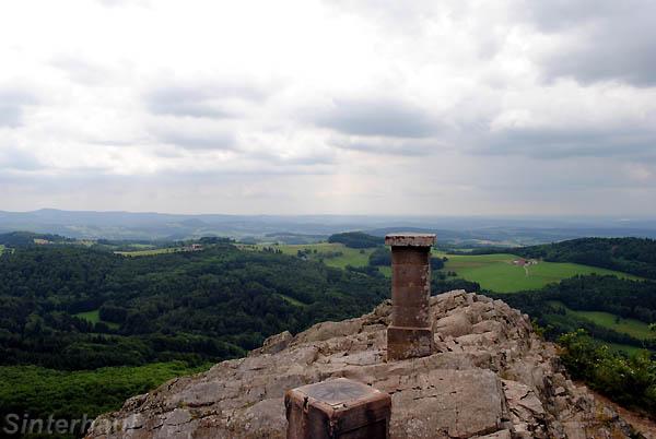 Ausblick von der Milseburg über die Rhön