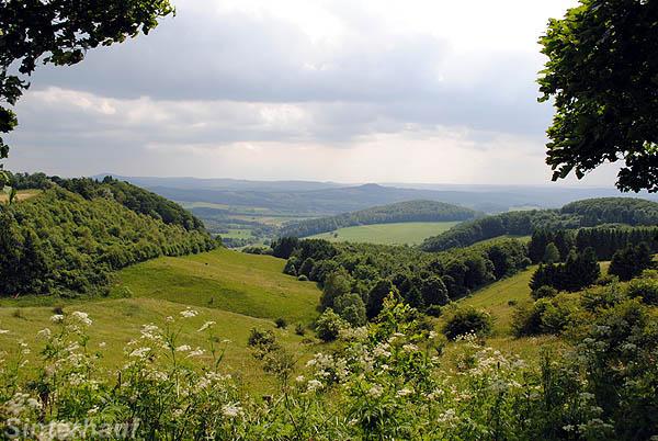 Blick vom Weihersberg in die Rhön
