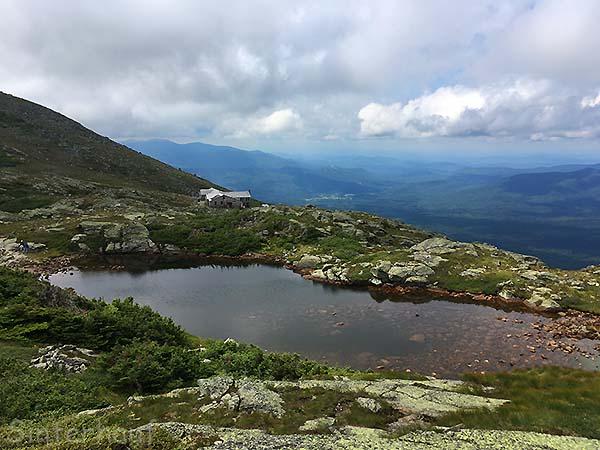 Blick auf die Lake of the Clouds Hut