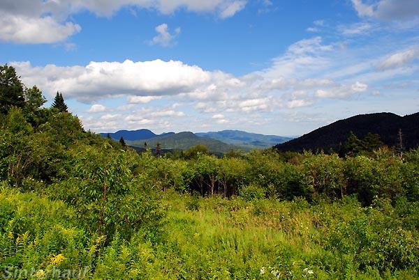 Ausblick in die White Mountains