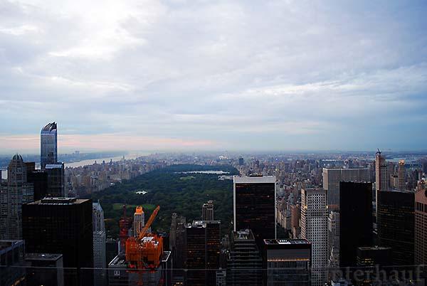 Blick auf den Central Park vom Rockefeller Center aus