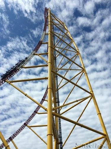 Es geht beeindruckende 122 m in die Höhe