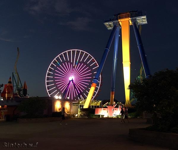Cedar Point am Abend