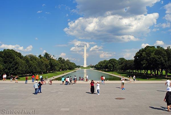 Blick vom Lonicoln Memorial zurück zum Kapitol