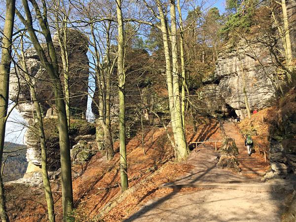 Aufstieg zur Bastei