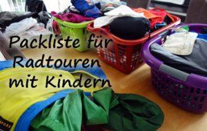 Packliste für Radtouren mit Kindern