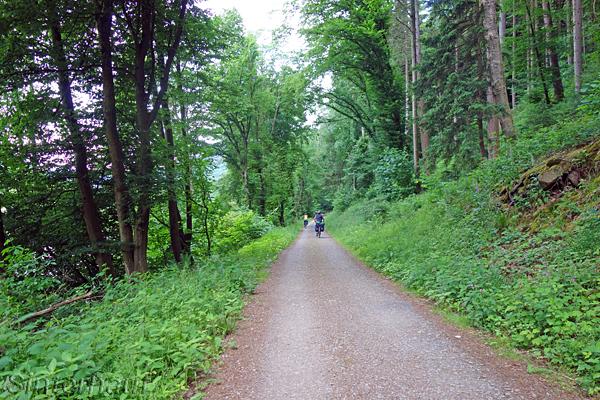 Noch häufig auf dem Neckartal-Radweg zu sehen: Schotterstrecken