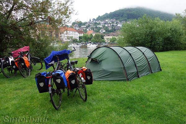 Zelten am Neckartal-Radweg ist gut möglich