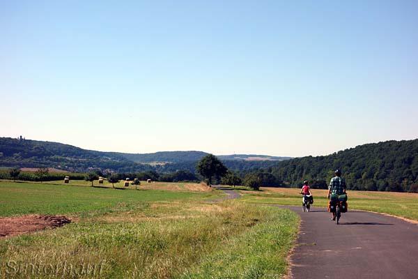 Der Saale Radweg bietet viel Natur