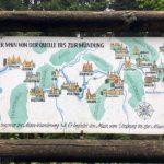 Historische Tafel des Mainwanderweges an der Weißmainquelle
