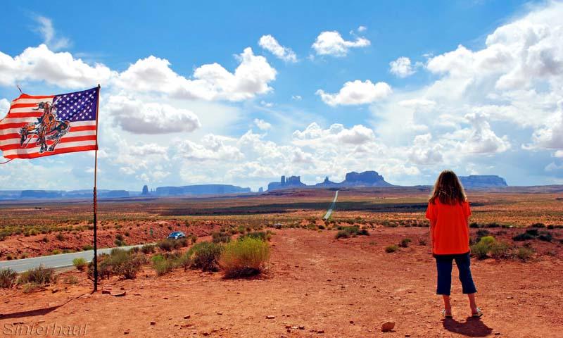 Blick zurück ins Monument Valley