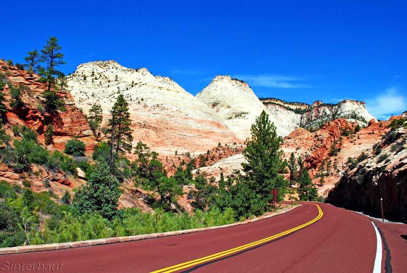 Straße zum Zion Nationalpark