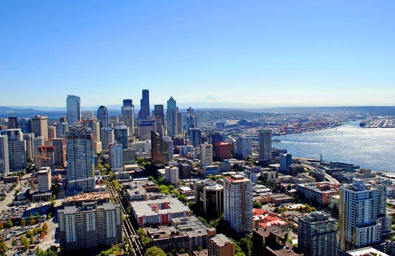 Aussicht auf die Skyline Seattles