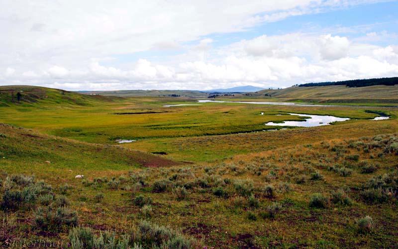 Einsame Weiten im Yellowstone NP