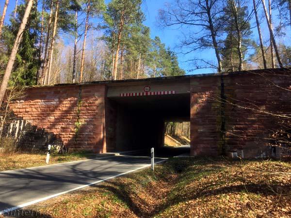 Brückenbauwerk bei Burgsinn
