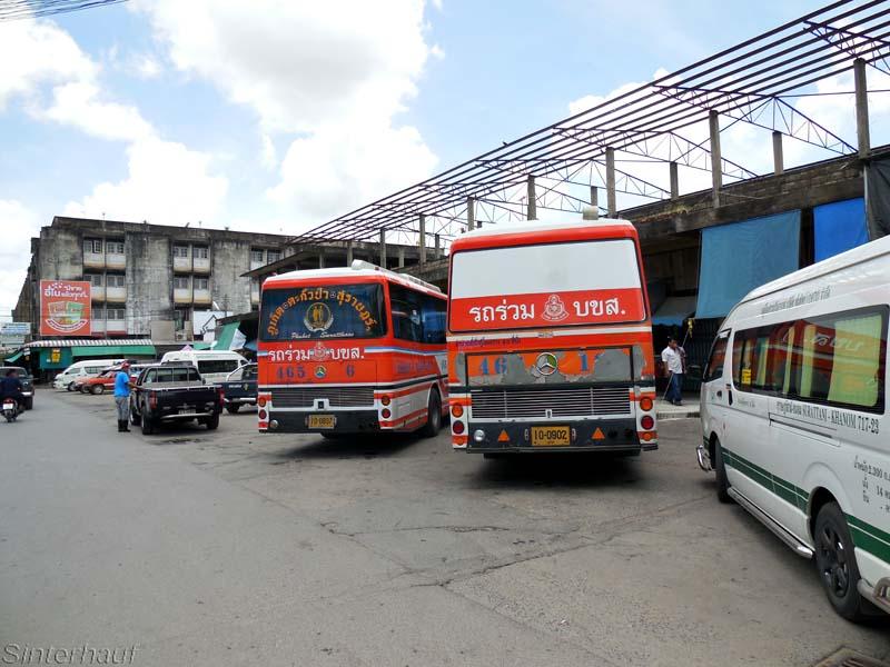 Busstation in Thailand