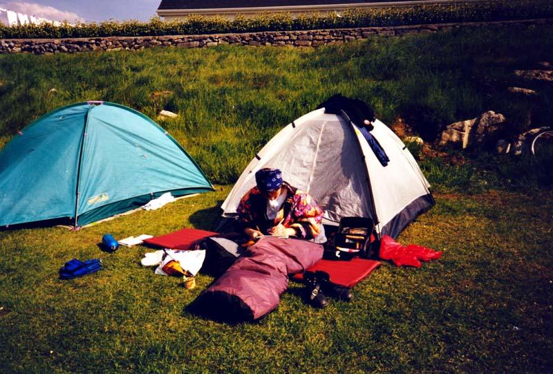 Zelten in Irland