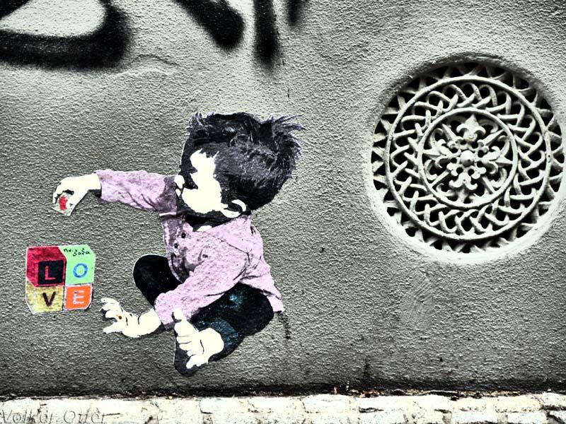 Hauswand Graffiti